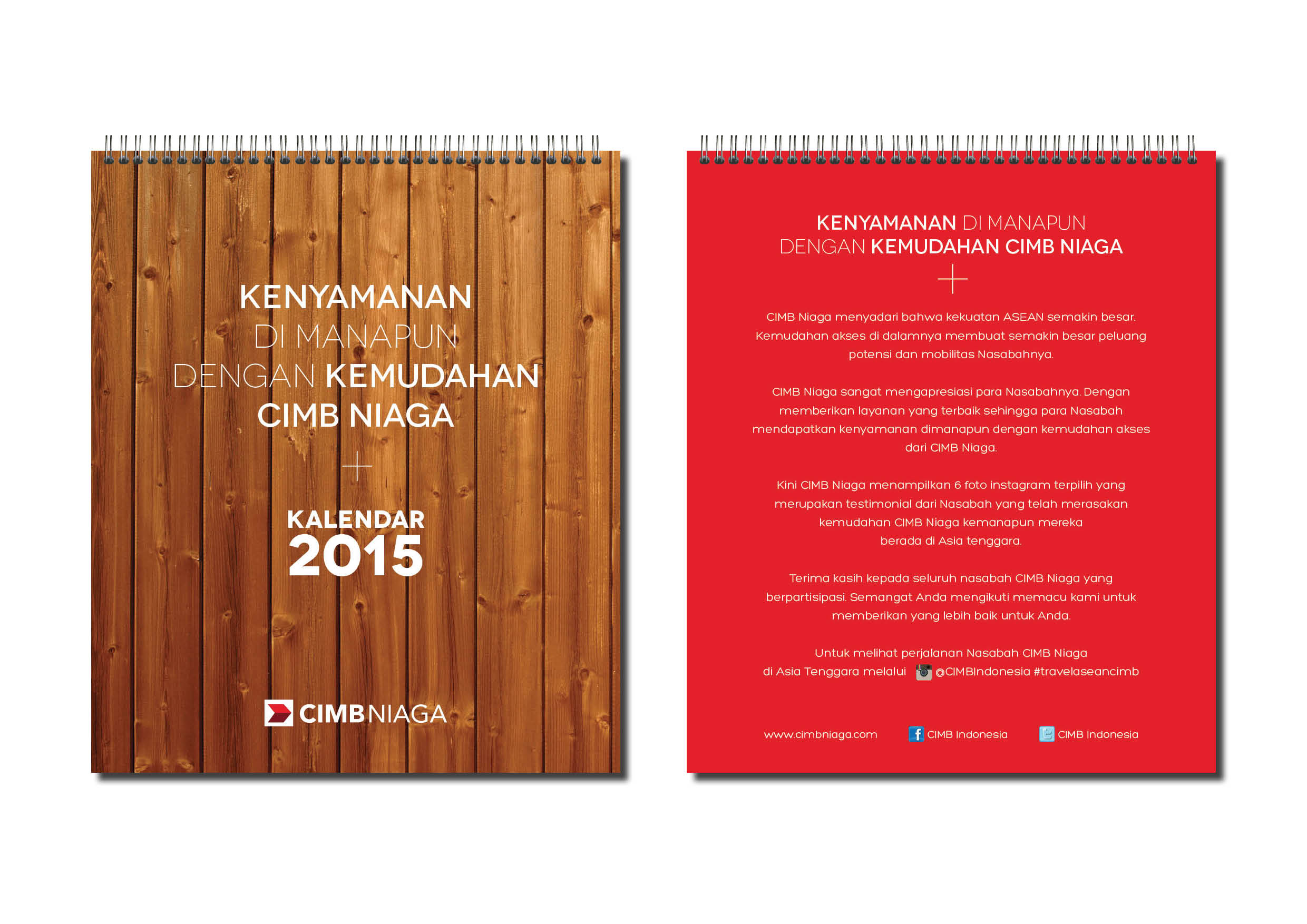 Cimb Niaga Calendar Agenda Corporate Greeting Cards Victoria